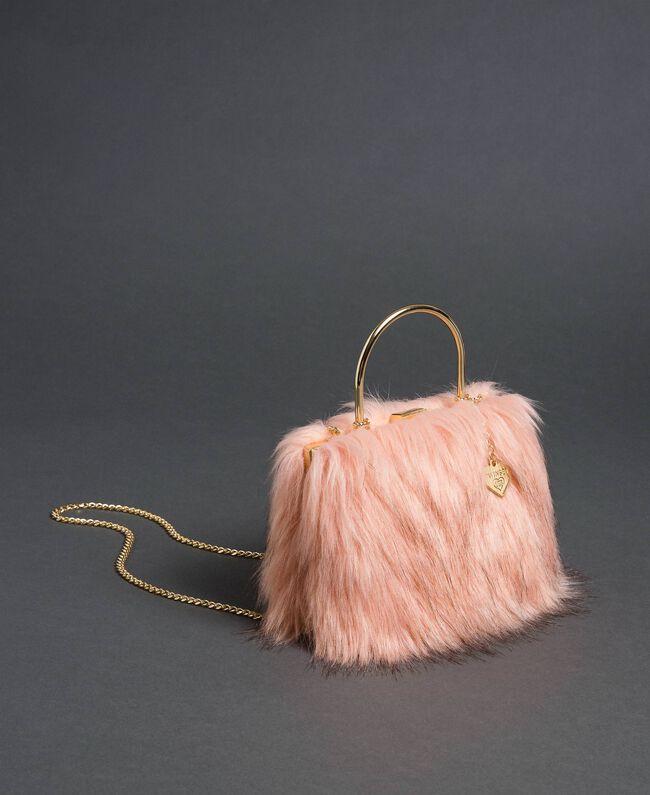 "Borsa tracolla in similpelliccia Rosa ""Peach"" Donna 192LL7ZNN-01"