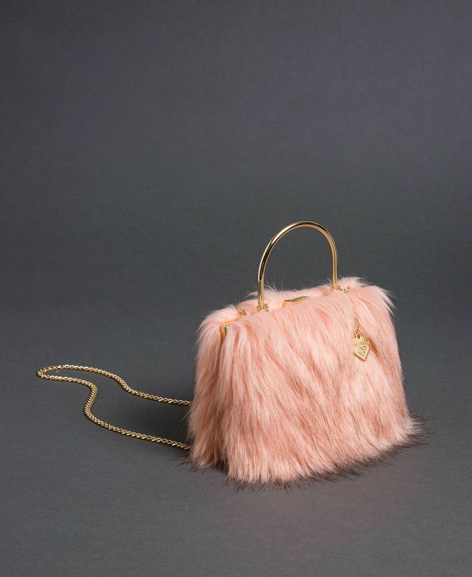 Bolso bandolera de piel sintética Rosa «Peach» Mujer 192LL7ZNN-01