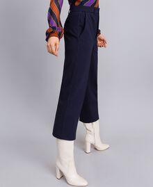 Pantalon en point de Milan Bleu Nuit Femme TA822F-02