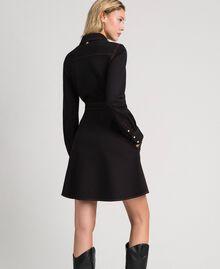 Denim effect shirt dress Black Woman 192MT2330-03