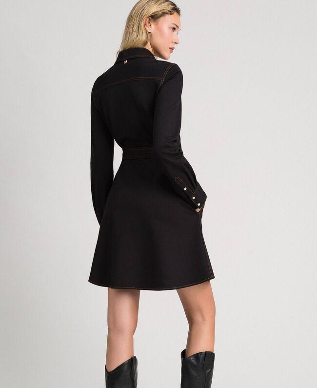 Robe chemisier effet jean Noir Femme 192MT2330-03