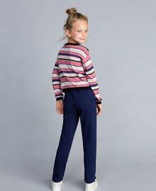 Pull jacquard en lurex Jacquard Multicolore Rayures Enfant GA83EB-04