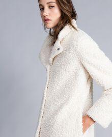 Manteau en faux agneau Nacre Femme JA82KN-04