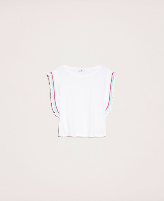 T-shirt with multicolour stripes