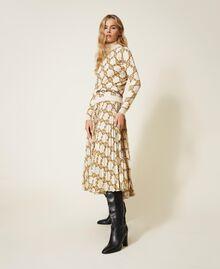 Maglia dolcevita con stampa catene Stampa Catena Grande Avorio / Oro Donna 202TT3340-02