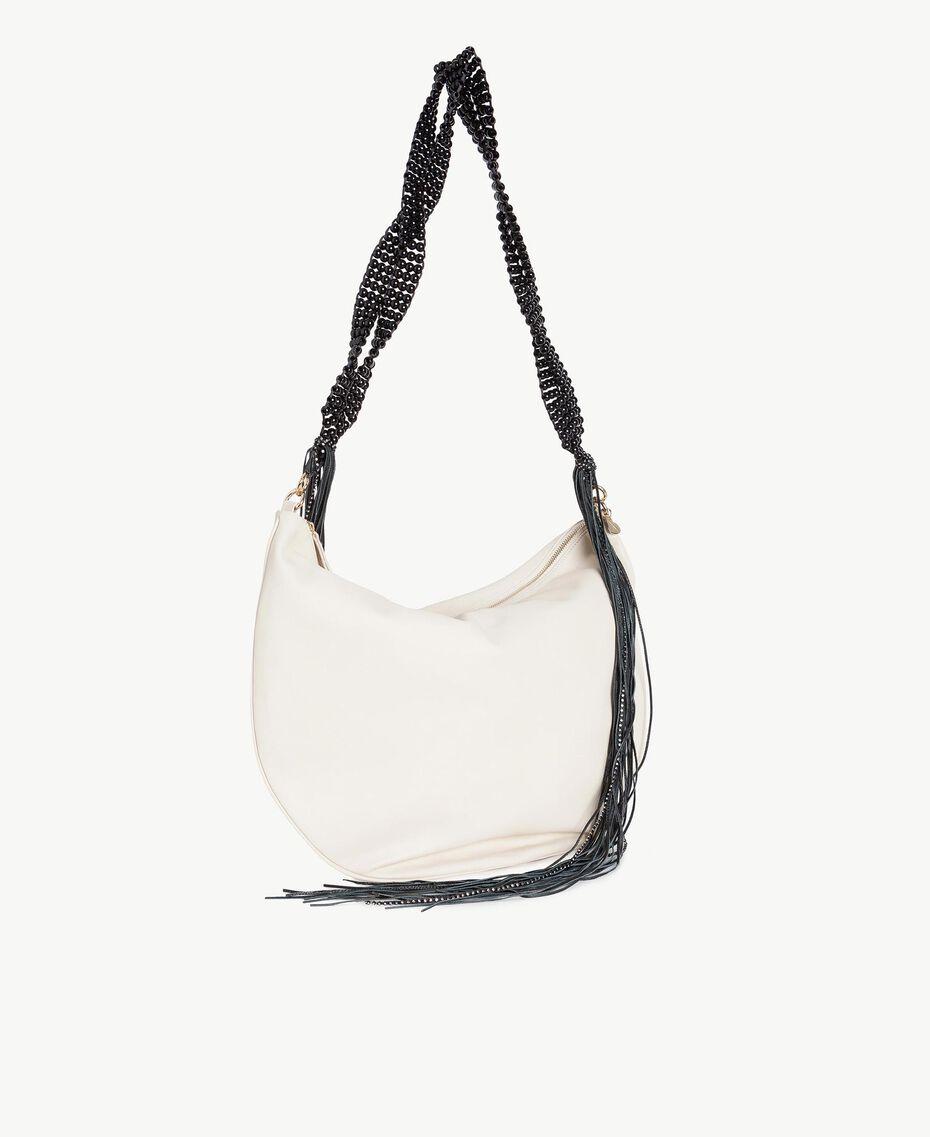TWINSET Hobo-Tasche mit Fransen Dune Frau OS8TDA-02