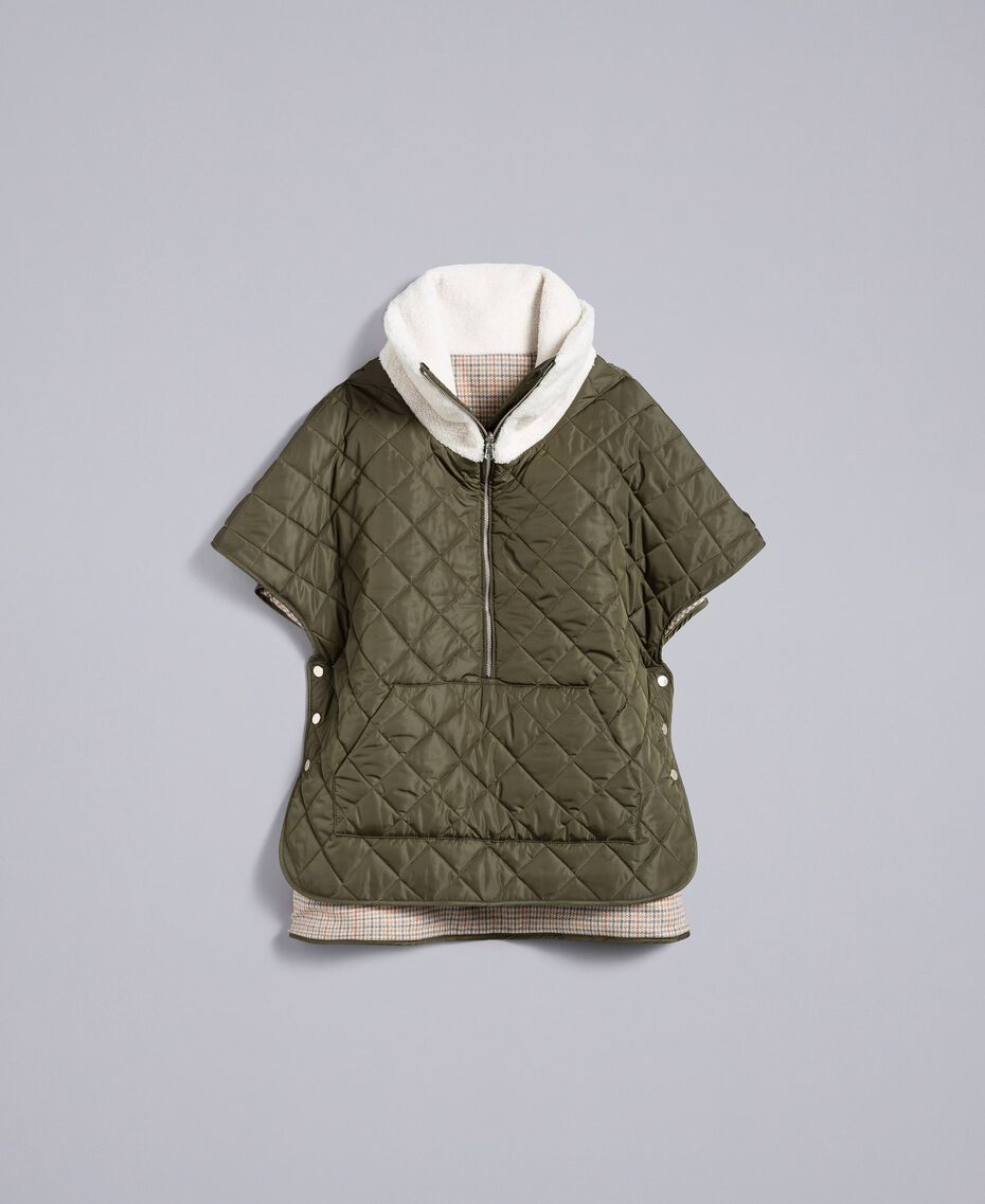 Quilted reversible padded jacket Forest Green Woman TA82B1-0S