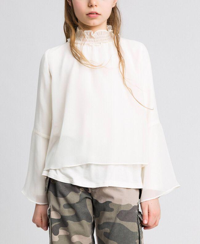 Bluse aus Georgette Chantily Kind 192GJ2351-01