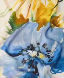 "Floral print kefiah ""Summer Hibiscus"" Blue Print Woman 211MO5365-03"