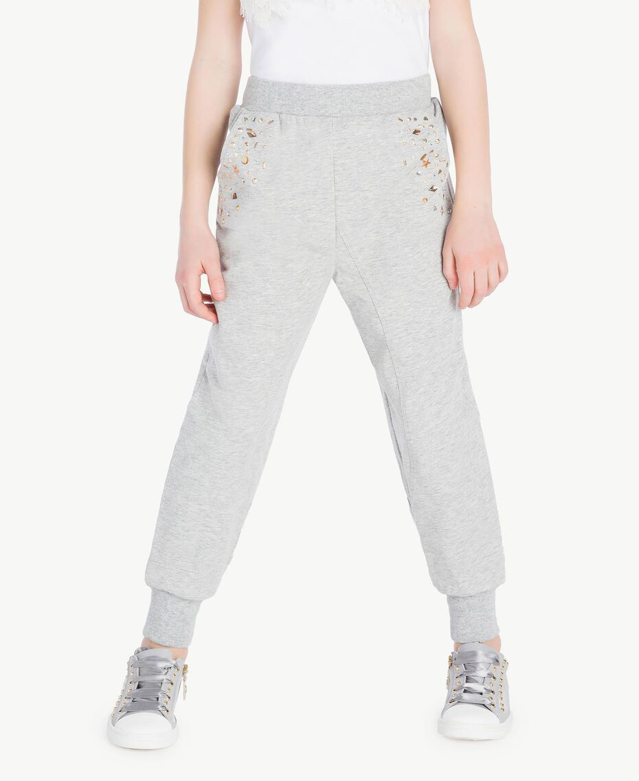 Studded trousers Light Gray Mélange Child GS82G4-02
