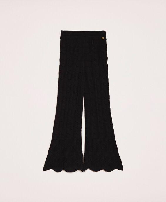 Lace stitch trousers
