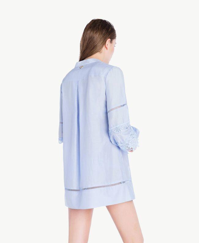 """Lace shirt """"Blue Foam"""" Blue Woman BS8FAA-04"""