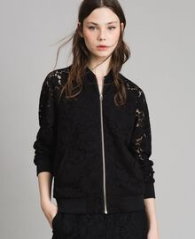 Macramé lace bomber Black Woman 191TP2250-01