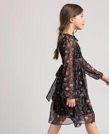 Robe en tulle avec imprimé floral Imprimé Fraises et Framboises Enfant 192GJ2505-01