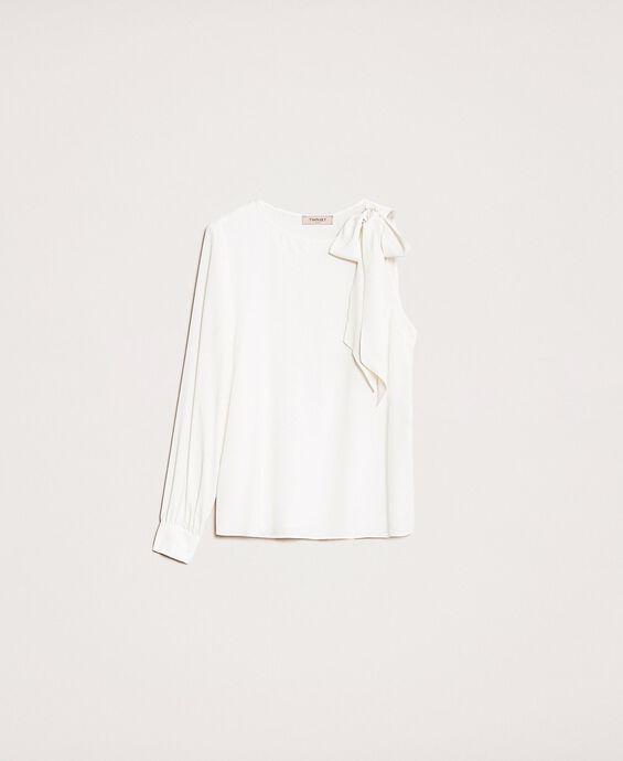 Einärmlige Bluse aus Seidenmischung