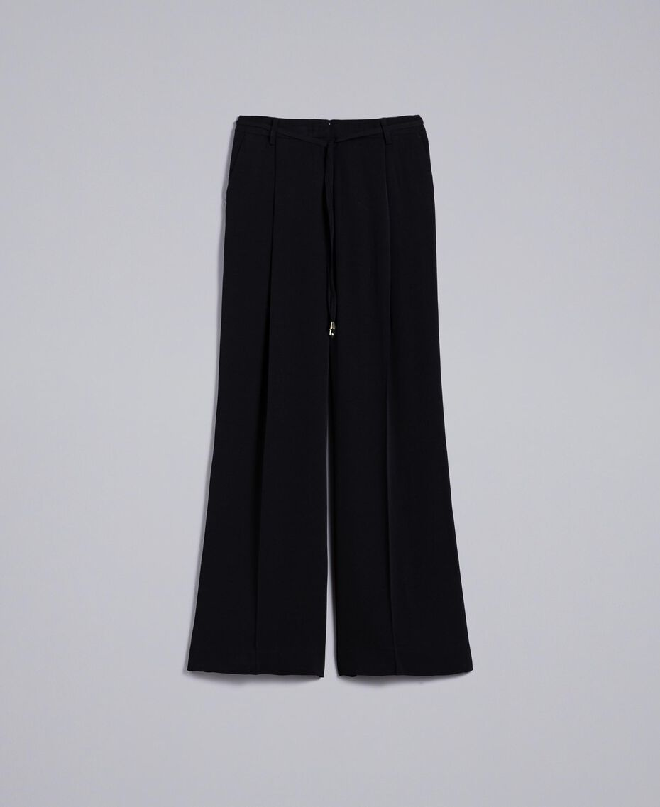 Wide cady trousers Black Woman PA825D-0S