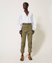 Pantalon cargo avec poches Vert Alpin Femme 211TT2652-02