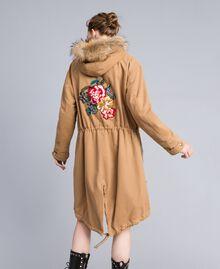 Parka aus Baumwolldrell Camel Frau PA82L7-01