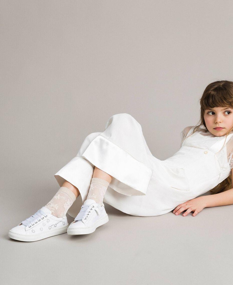 Chaussettes en laine lurex Off White Enfant 191GJ4QR1-0S