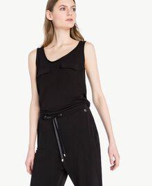 Jersey jumpsuit Black Woman PS82EN-04