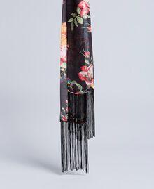 Foulard en viscose avec imprimé floral Imprimé Roses et Lis Femme AA8P16-01