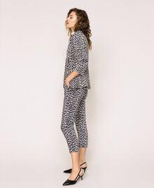 Animal print cigarette trousers Lily Animal Print / Black Woman 201MP2452-02