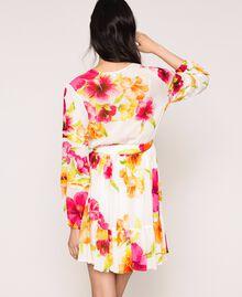 Vestido de georgette de flores Estampado Hibiscus Nieve Mujer 201TT2492-03