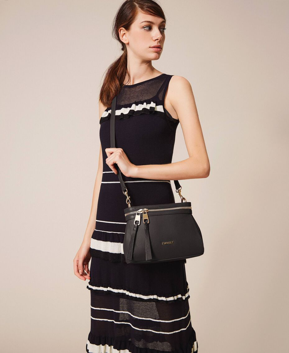 Small faux leather New Cécile bag Black Woman 201TO8181-0S