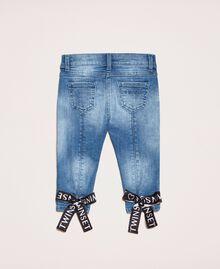 "Skinny jeans with logo ""Mid Denim"" Blue Child 201GB2371-0S"