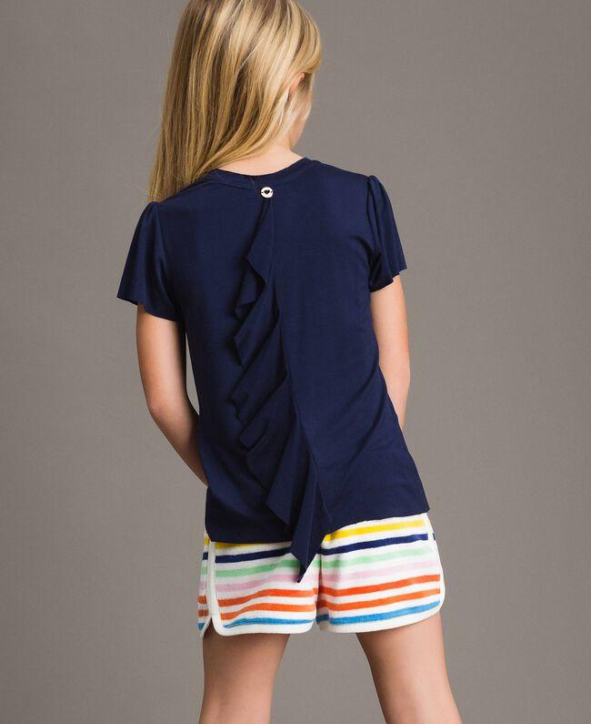 Viscose T-shirt with print and rhinestones Indigo Child 191GJ2450-03