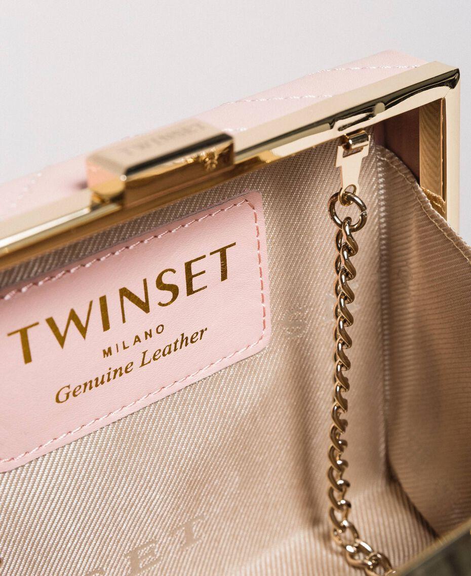 Matelassé leather clutch bag Pink Pearl Woman 191TA7196-05