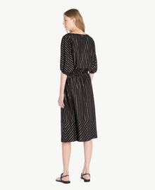Jacquard dress Black Jacquard / Gold Stripes Woman TS82VC-03
