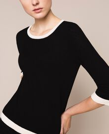 Slim fit jumper Black Woman 201TQ3050-04