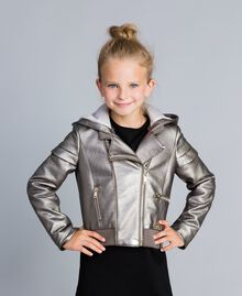 Faux leather laminated jacket Olive Child GA82BN-0S