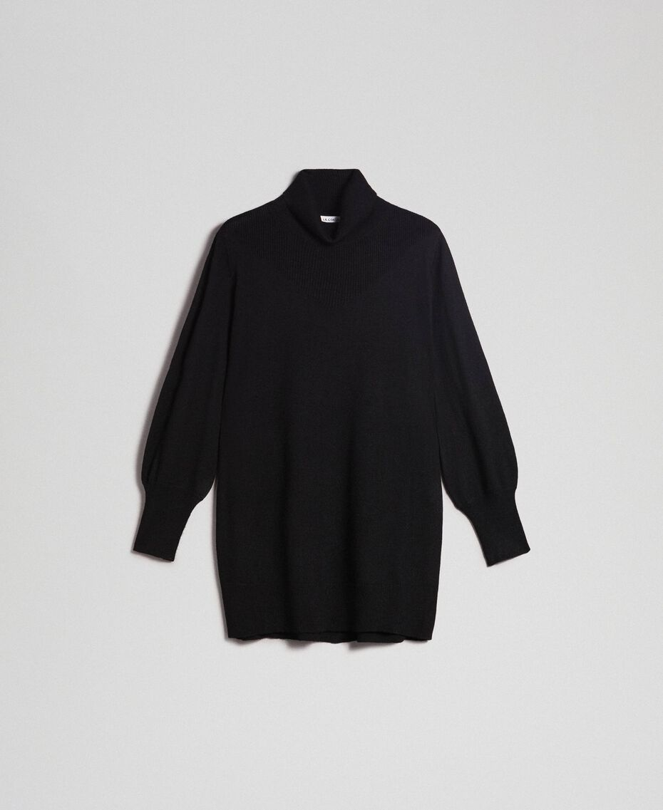 Oversized wool and cashmere jumper Black Woman 192ST3152-0S