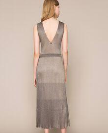 Robe longue en lurex Multicolore Argent Femme 201TT3051-03
