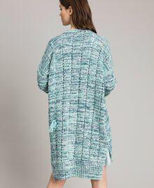 """Maxi cardigan avec rubans Multicolore Fantaisie Bleu """"Mikonos"""" Femme 191TP3280-04"""