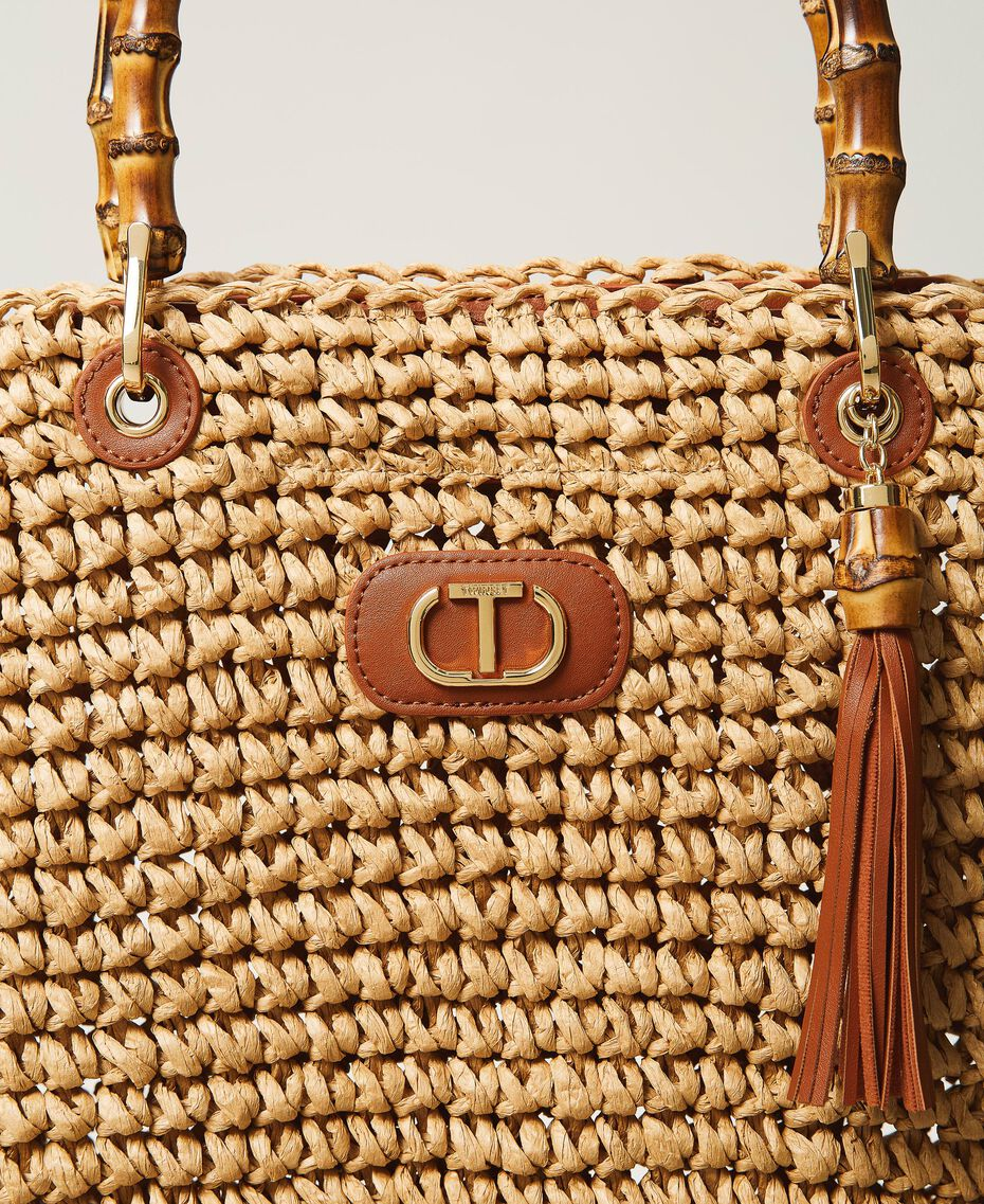 Weaved raffia shopper Straw Woman 211TD8240-03