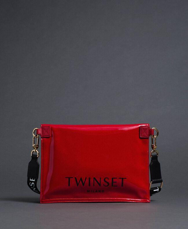 Petit sac cabas repliable en similicuir Rouge Grenade Femme 192TA7174-01