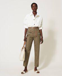 Blouson avec grandes poches Crème fouettée Femme 211TT2077-0T