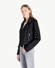 Faux leather biker jacket Black Woman JS82CC-02