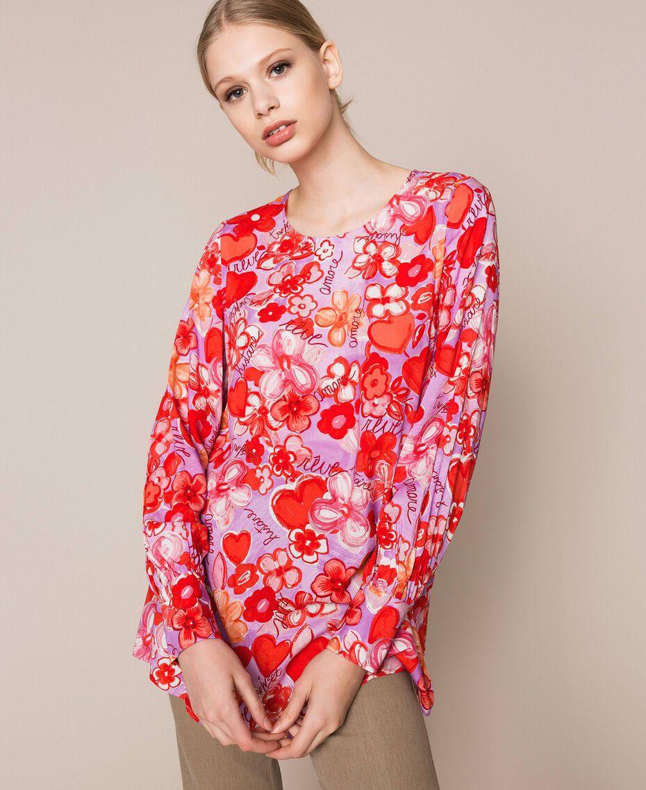 Blouse avec imprimé floral Imprimé Reve / Roses Femme 201TQ2020-02