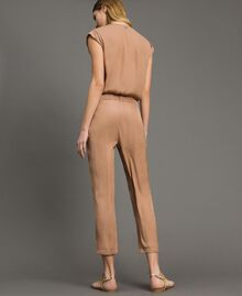 "Long jumpsuit with elasticated waistband ""Petra Sandstone"" Brown Woman 191LM2GDD-03"