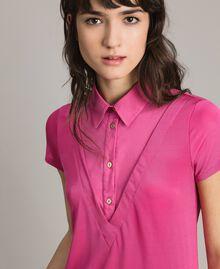 Minirobe chemise en jersey Bouton De Rose Femme 191LL23NN-04