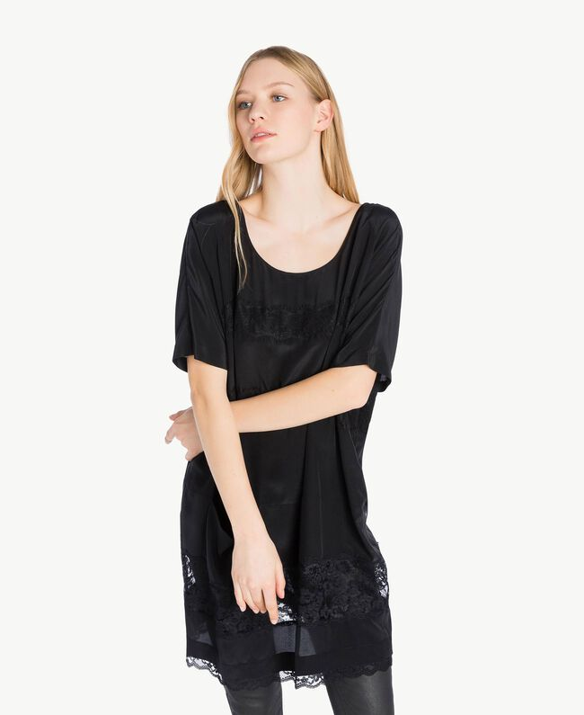 Silk tunic Black Woman PS82Z1-04