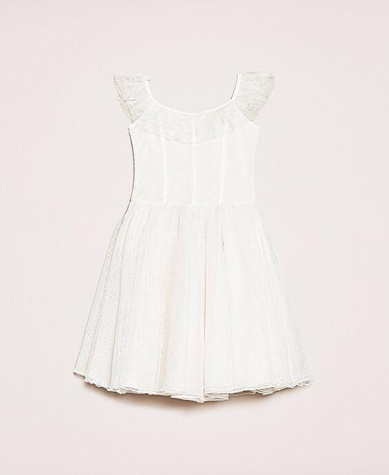 Plumetis tulle dress