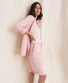 "Georgette Bermuda shorts ""Peachskin"" Pink Woman 201LL2NDD-02"