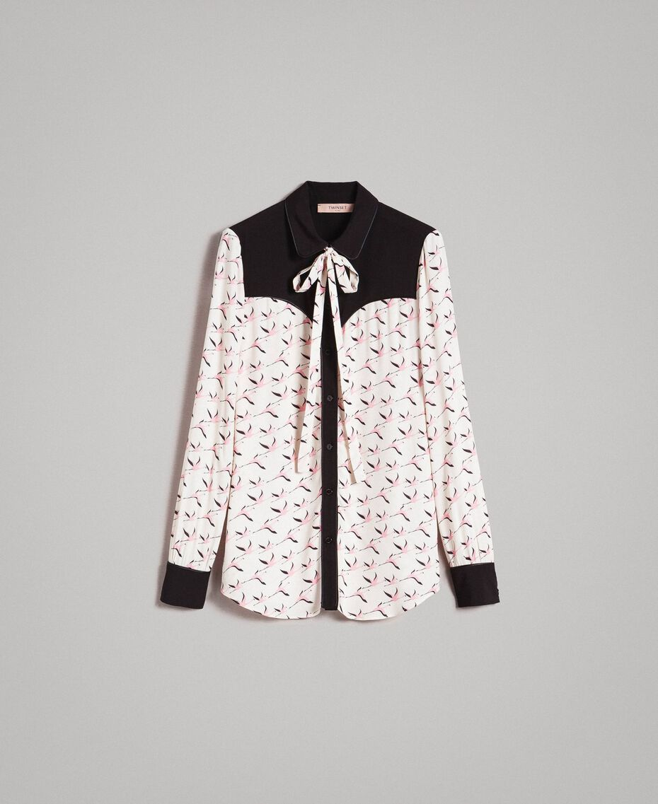 Hemd mit Flamingo-Aufdruck Motiv Flamingo Frau 191TP2762-0S