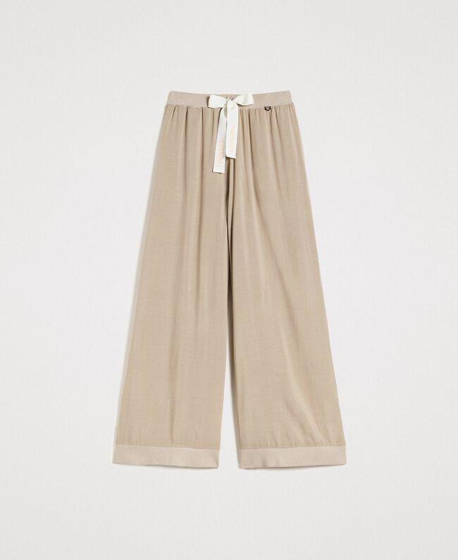 "Viscose palazzo trousers ""Grey Dust"" Woman 191LL35SS-0S"