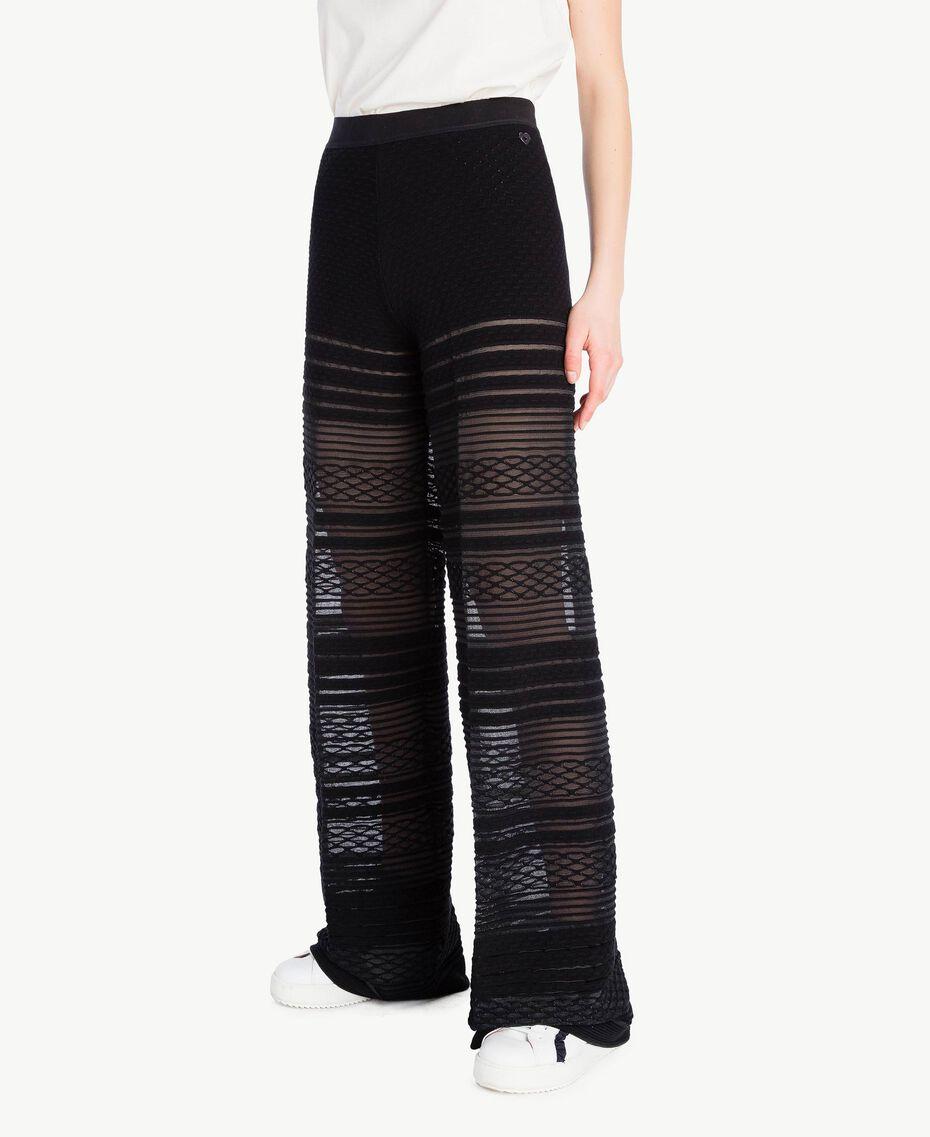 Pantalon viscose Noir Femme PS8363-02